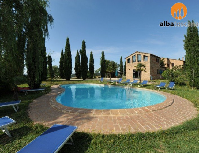 <h3><a href='https://www.alba-toscana.eu/en/st/34/'>Holiday home in Farmhouse in Buonconvento Siena Tuscany - Agriturismo La Quarantallina</a></h3><p>